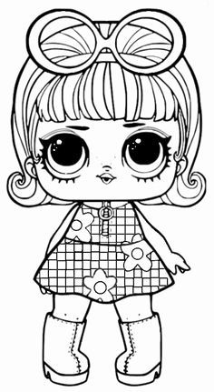 Lol Surprise Coloring Pages To Print Unicorn Coloring Pages, Cute Coloring Pages, Coloring Pages For Girls, Coloring Pages To Print, Coloring For Kids, Coloring Sheets, Coloring Books, Doll Party, Lol Dolls