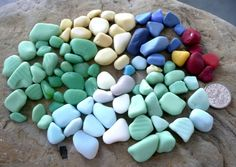 English sea glass  beautiful selection of milk glass in by jazomir, $20.00