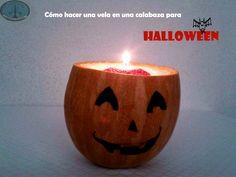 Cómo hacer una vela en una calabaza para Halloween