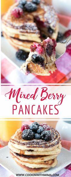 Mixed Berry Pancakes | Pancake Recipes | Breakfast Recipes | Blueberries | Raspberries | Blackberries | Best Pancake Recipe | Cookin With Mima | #mixedberries #pancakes #breakfast #cookinwithmima
