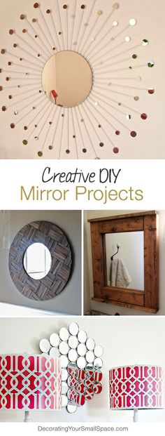 DIY Mirror Projects • A round-up of great ideas & tutorials on making your own decorative DIY mirrors!