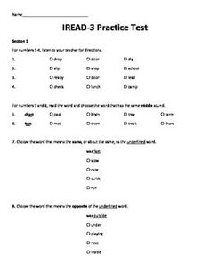 Selective image throughout 3rd grade reading practice test printable