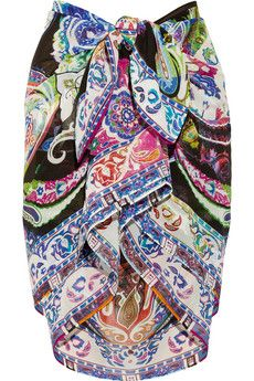 Etro Paisley-print silk-chiffon pareo | NET-A-PORTER.  Oh my goodness this is so Ketty!!!
