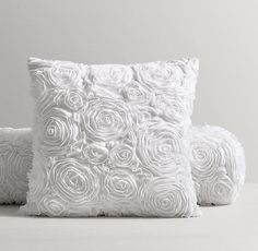 Chiffon Floral Pillow Cover & Insert