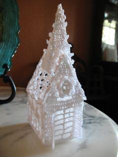 ... on Pinterest   Christmas villages, Thread crochet and Crochet patterns