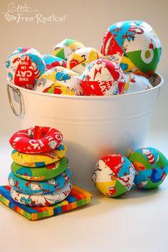Handmade Dr. Seuss baby toys- LOVE