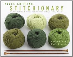 Vogue - Knitting Stitchionary; Volume One: Knit & Purl: The Ultimate Stitch Dictionary from the Editors of Vogue; Knitting Magazine (Vogue Knitting Stitchionary Series) by Vogue Knitting Magazine,http://www.amazon.com/dp/1936096234/ref=cm_sw_r_pi_dp_kczGsb0PFZM6N16K