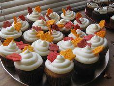 Leaf cupcakes I made for a bridal shower