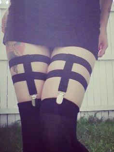 Chunky Garter Suspenders by VanillaKink on Etsy