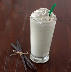 Starbucks Frappe Remedy! 65 Calories - - Ingredients : - 2 Cups shaved ice (using blender or shaved ice machine) - 2 Tbsp Sugar Free Maxwell Cappuccino mix (Comes in Various Flavors) - 1 packet splenda - 2 Tbsp Sugar Free French Vanilla Creamer - 1 Serving Fat Free Reddi Whip - 1/4 Packet Sugar Free Fat Free Vanilla Pudding Mix