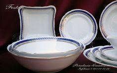 Serwis obiadowy Feston dla 12 osób 45 elementów dekor. 1364 - Serwisy obiadowe - Porcelana Ćmielów