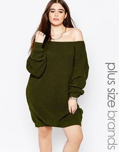 92036aa2a05f Boohoo Plus Off The Shoulder Sweater Dress Plus Size Fashion For Women
