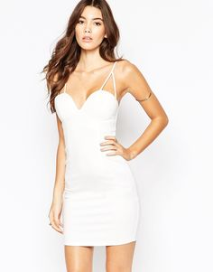 Image 1 ofNaaNaa Bodycon Dress With Strappy Tie Back Detail