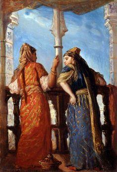 Juives au balcon, Alger par Théodore Chassériau