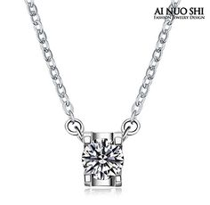 1 Carat Ladies Round Cut Man Made Centre Stone Solitaire Pendant Engagement Silver Pendant with 18k White Gold Plated for Women AINUOSHI http://www.amazon.com/dp/B00WU48WQI/ref=cm_sw_r_pi_dp_RKErvb0DA39S0