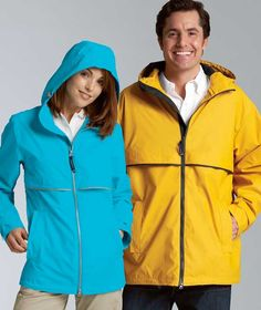 Charles River Apparel 5099 Women's New Englander Rain Jacket Hot Matching His and Hers #rainjacket #raincoat #matchingoutfits