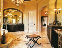 "Sater Design Collection's 6910 ""Fiorentino"" Home Plan - mediterranean - bathroom - miami - Sater Design Collection, Inc."
