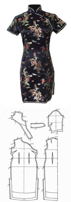 Maple Chong  - qipao - Tradicional chinese dress pattern -