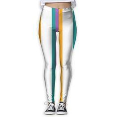 b263c4223414 Futong Huaxia Stripe Women s Stretchy Leggings Skinny Pants For Yoga  Running Pilates Gym