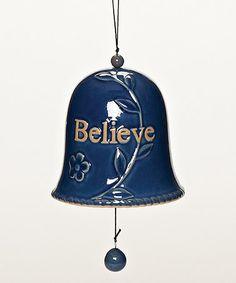 Love this Blue 'Believe' Cross Bell on #zulily! #zulilyfinds