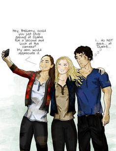 bellamy and clarke fan art - Google Search
