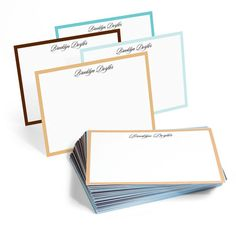 John, M. Type, The Fifth Avenue Border Note Cards Collection from the Stationary Studio