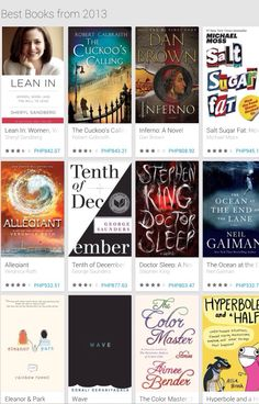 Best Books of 2013 from Google Play. #Best #Books #2013