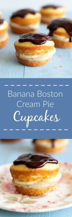 Banana Boston Cream Pie Cupcakes are a tasty miniature version of the ...
