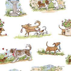 """Well Dressed Cat Cats Bunny Garden Flower Fabric 17/"""" x 16.25/"""" Pillow Quilt Block"""