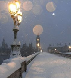 White Christmas in London.