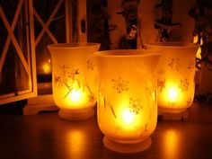 Flameless Votive LED Candles with Remote Set of 3 Glass Jar Christmas Pattern >>> You can get additional details at the image link.