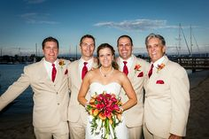 bride and the men