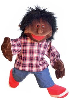 Hello friends, what's up? Do you like my plaid shirt? Living Puppets, Hand Puppets, Teddy Bear, Plaid, Toys, Animals, Friends, Shirt, Puppets