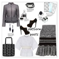 """""""Gris, Blanc, Noir"""" by atelier-briella ❤ liked on Polyvore featuring Alexander McQueen, Cédric Charlier, Blanc Noir, Christian Louboutin, Music Notes, McQ by Alexander McQueen, Belk & Co., Jewelonfire, Serge Lutens and Soma"""