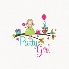 Premade Party Logo Candy Jar Logo Balloon by stylemesweetdesign
