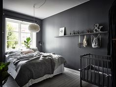 A Beautiful Dark Grey and White Bedroom - Is To Me - Entrance Makleri