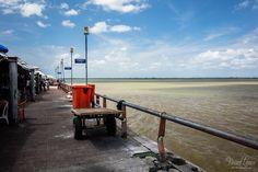 Le marché Ver o Peso le long de la baia do Guajara à Belèm - Etat du Pará - Brésil