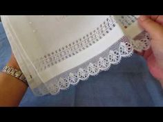 Toallita De Bautizo Puebla De Trives,resultado Final 1 - YouTube Bobbin Lace Patterns, Sewing Patterns, Crochet Patterns, Drawn Thread, Thread Work, Plastic Canvas Stitches, Cutwork Embroidery, Creative Embroidery, Tutorials
