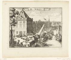 Romeyn de Hooghe, Gezicht op de Waag te Haarlem, 1688 - 1689, ets op papier, 184mm x 241mm. Rijksmuseum, Amsterdam.