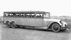 The bus was built under license from Goodyear by The Six-Wheel Co. Earlier Ellis W. Templin developed and filed a patent for the design of the Six-Wheel Truck for the Goodyear Tire Company on June 30, 1921