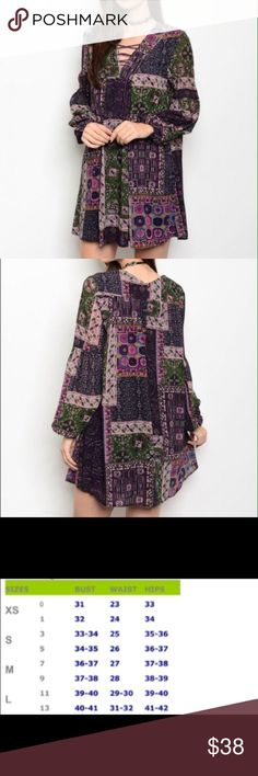 🆕 Plum & Green Shift Dress Rich colors in this beautifully patterned shift dress.  Dress is lined.  Material:  100% Rayon.  Price is firm unless bundled 😊 Dresses