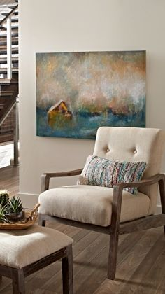 You could very easily while away moment after moment gazing into the soothing, impressionistic imagery of our Fading Barn Artwork.