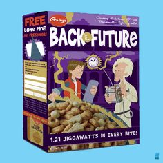 Back to the Future cereal... I love this box, it's so cute! It's one of my favorite movies...
