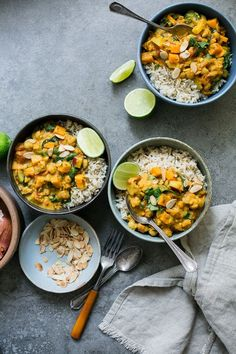 "Sweet Potato, Chickpea & Spinach Coconut Curry from ""Oh She Glows Every Day"" - The Green Life"