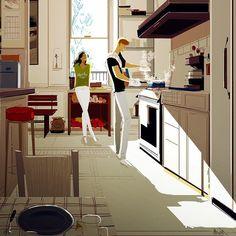 1,179 отметок «Нравится», 56 комментариев — Pascal Campion Art (@pascalcampionart) в Instagram: «Home cooked. April 2015. #pascalcampion #pascalcampionart #cooking #kitchen #couple»