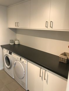 Utility Room Designs, White Laundry Rooms, Laundry Design, Woodworking Shop, Future House, Furniture Design, Sweet Home, New Homes, Home Appliances