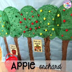 Apple Orchard Dramatic Play - Pocket of Preschool Tree Outline, Red Basket, Felt Squares, Dramatic Play Centers, Apple Theme, Preschool Crafts, Preschool Ideas, Play Centre, Apple Orchard