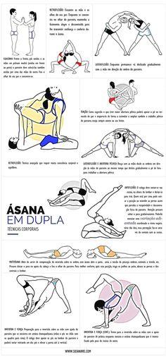 yoga asana em dupla acroyoga pares pareja couples ioga #PartnerYoga
