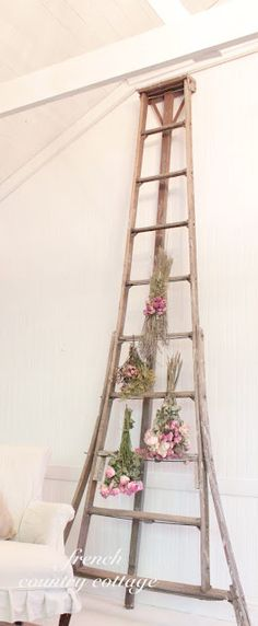 wht a ladder.....would die for it!  FRENCH COUNTRY COTTAGE