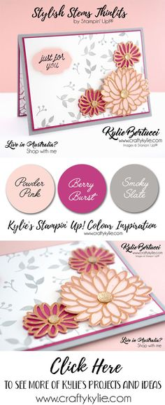 Live in Australia?? This is the last chance to get these AWESOME products before they are gone forever. Stylish Stems Thinlits and So in Love stamp set. Don't miss out. #stampinup #cardmaking #handmadecard #rubberstamps #stamping #kyliebertucci